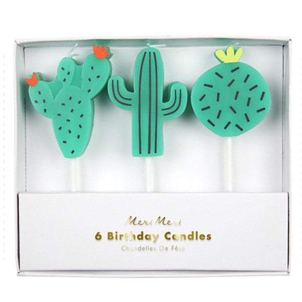 Cactus Birthday Candles, Set of 6- Meri Meri