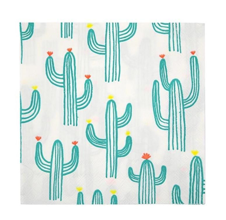 Cactus Paper Party Napkins, Meri Meri