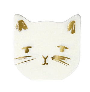 Cat Paper Party Napkins by Meri Meri