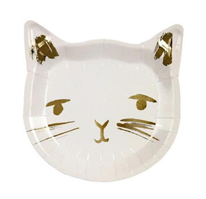 Cat Paper Party Plates by Meri Meri