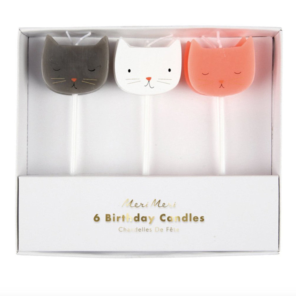 Cat Birthday Candles, Set of 6- Meri Meri