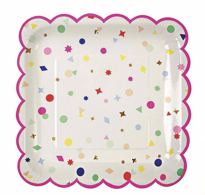 Toot Sweet Charms Paper Party Plates, Meri Meri