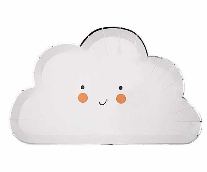 Happy Cloud Plates by Meri Meri