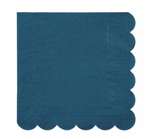 Dark Teal Paper Napkins