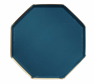 Dark Teal and Gold Paper Plates, Meri Meri
