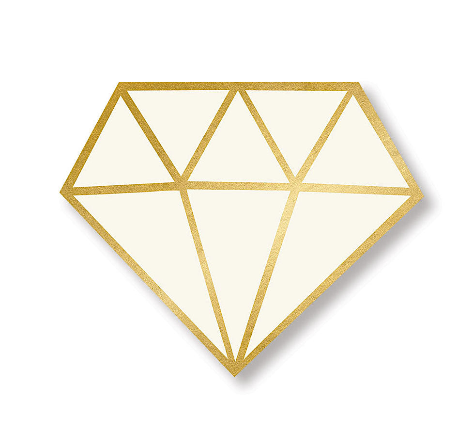 Diamond Shaped Bridal Shower Napkins