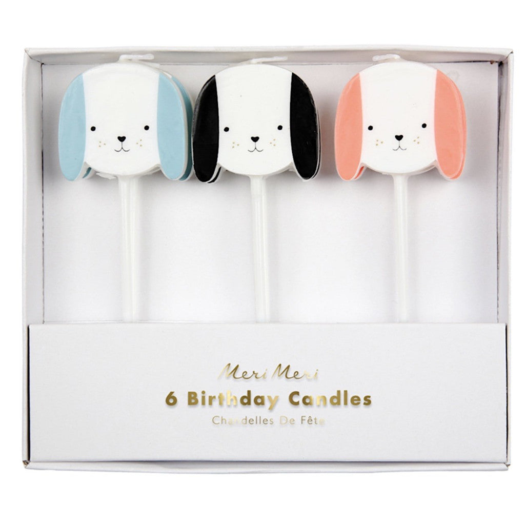 Dog Birthday Candles, Set of 6- Meri Meri