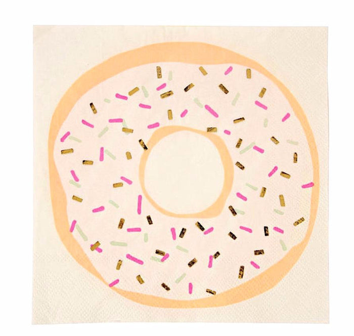 Donut Paper Party Napkins by Meri Meri
