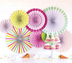 Spring/ Easter Party Paper Fan Rosettes