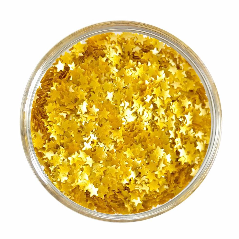 Edible Metallic Gold Star Glitter Sprinkles
