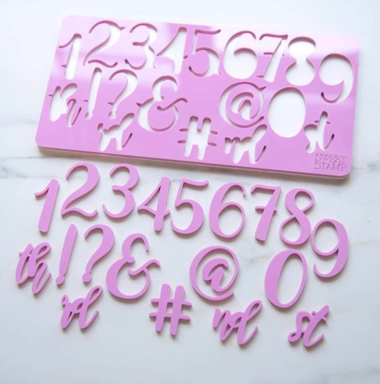 Sweet Stamp by Amy Cakes Elegant Numbers & Symbols Set