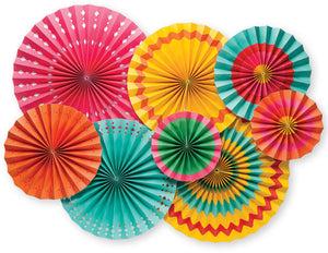 Fiesta Party Paper Fan Rosettes