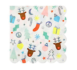Festive Fun Christmas Paper Napkins by Meri Meri
