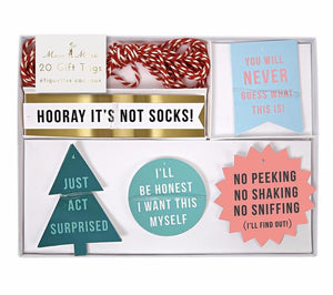 Fun, Festive Holiday Gift Tags, Meri Meri