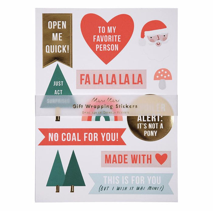 Festive Christmas Holiday Gift Tag Stickers by Meri Meri