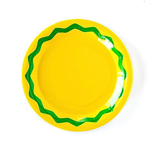 Yellow and Green Fiesta Party Plates