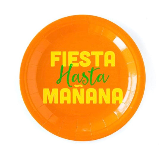 Orange Fiesta Hasta Mañana Party Plates