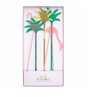 Tropical Flamingo Cake Toppers
