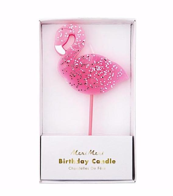 Flamingo Birthday Candle