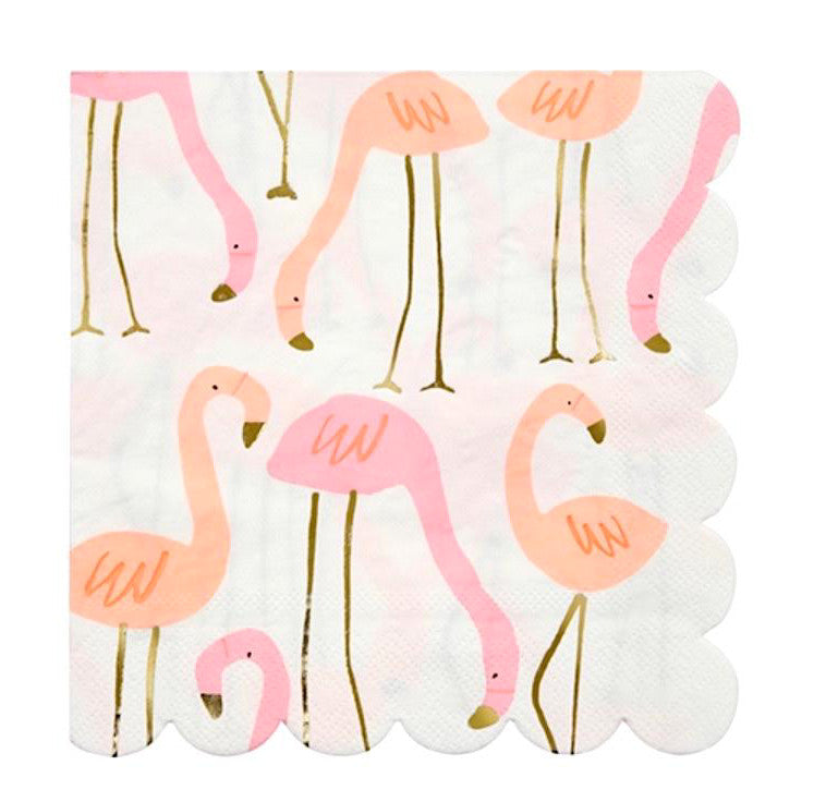 Flamingo Paper Party Napkins by Meri Meri