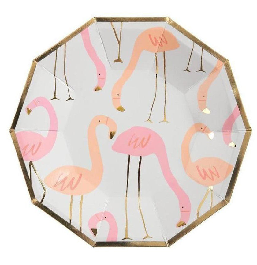 Flamingo Paper Party Plates, Meri Meri