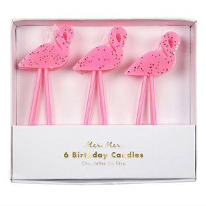 Flamingo Birthday Candles, Set of 6- Meri Meri