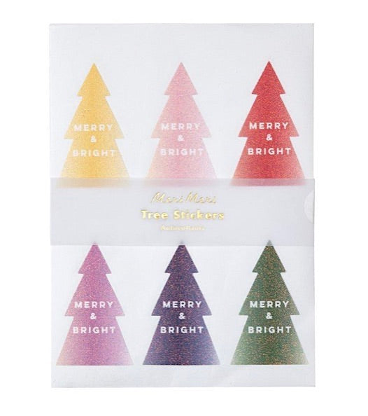 Ombre Glitter Christmas Tree Stickers by Meri Meri
