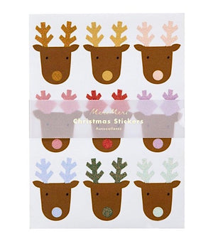 Rainbow Reindeer Christmas Sticker Sheets by Meri Meri