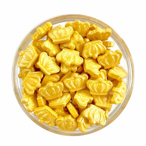 Gold Crown Candy Shape Sprinkles