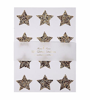 Gold Glitter Star Stickers, Meri Meri