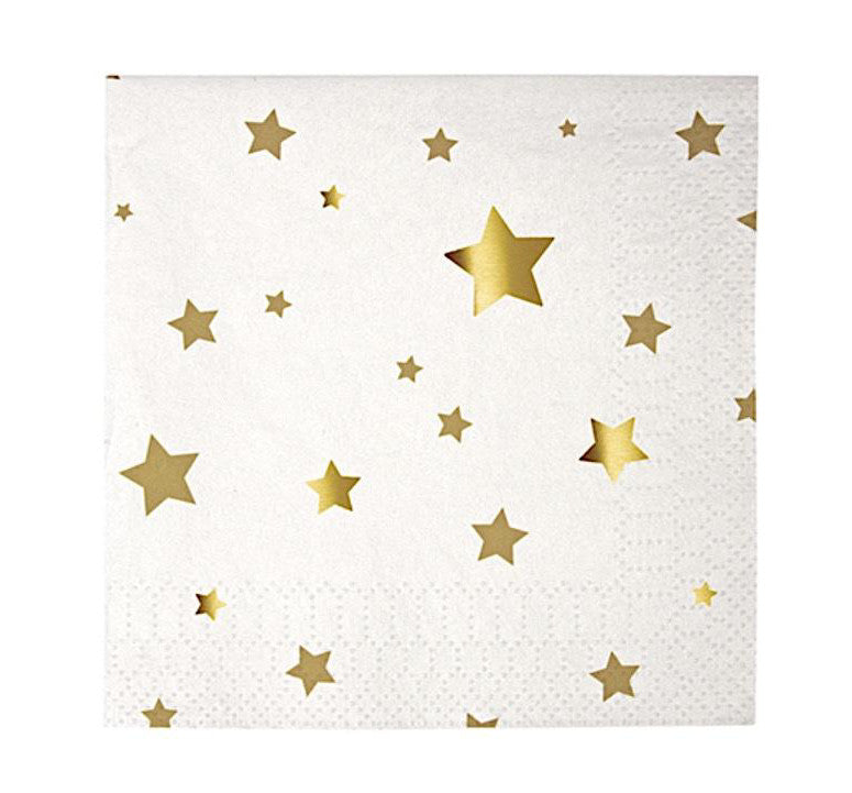 Toot Sweet Gold Stars Paper Party Napkins, Meri Meri