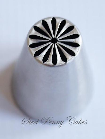 Russian style piping tip- Multi Petal Daisy