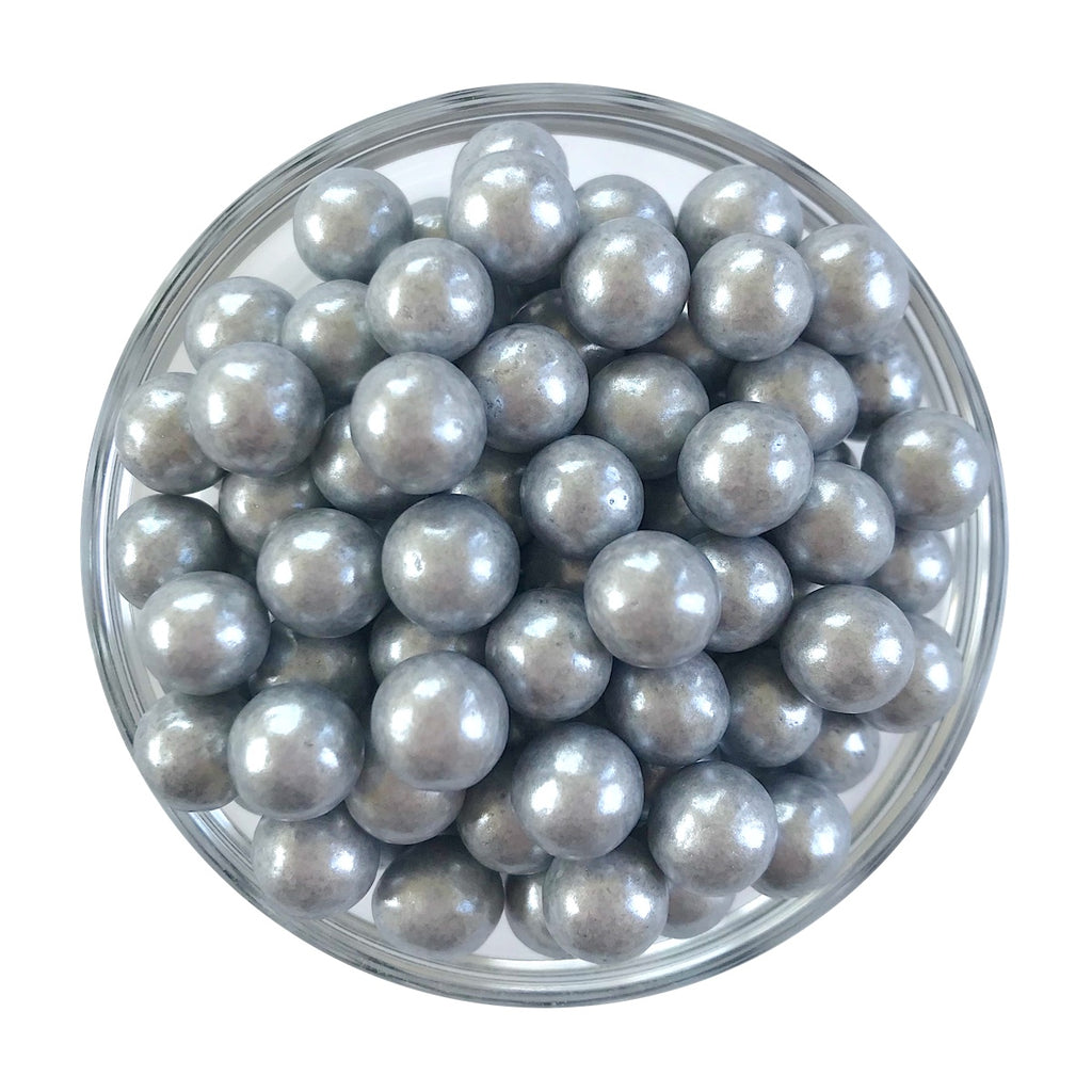 Large Silver Sugar Pearls