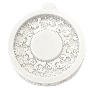 Silicone Round Fondant Frame Mold by Katy Sue Designs