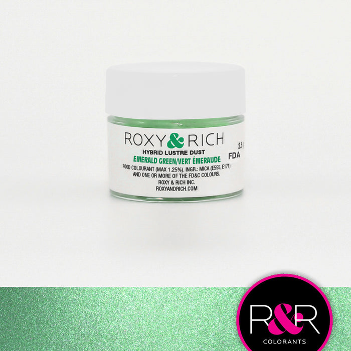 Roxy and Rich Hybrid Luster Dust- Emerald Green 2.5g