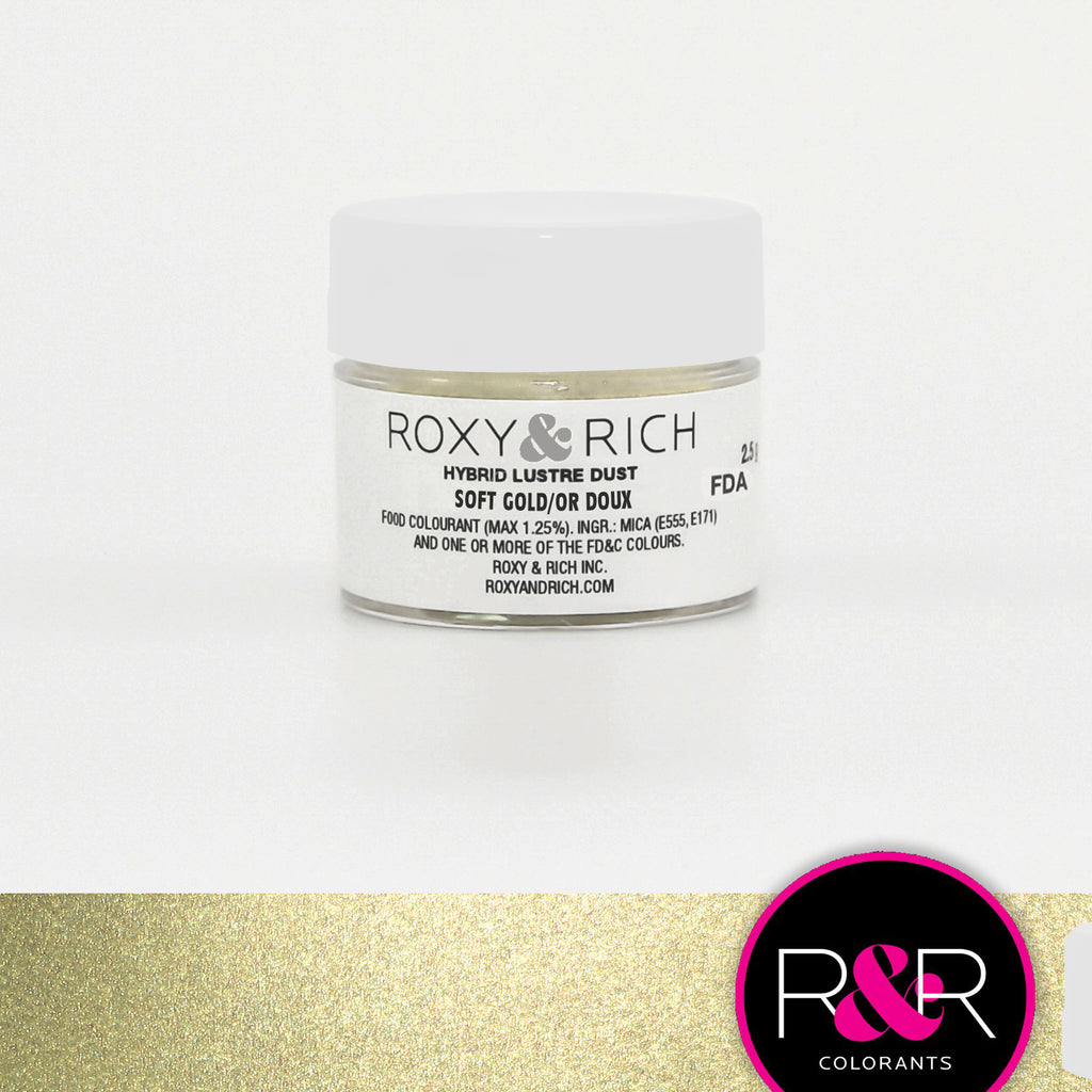 Roxy and Rich Hybrid Luster Dust- Soft Gold 2.5g