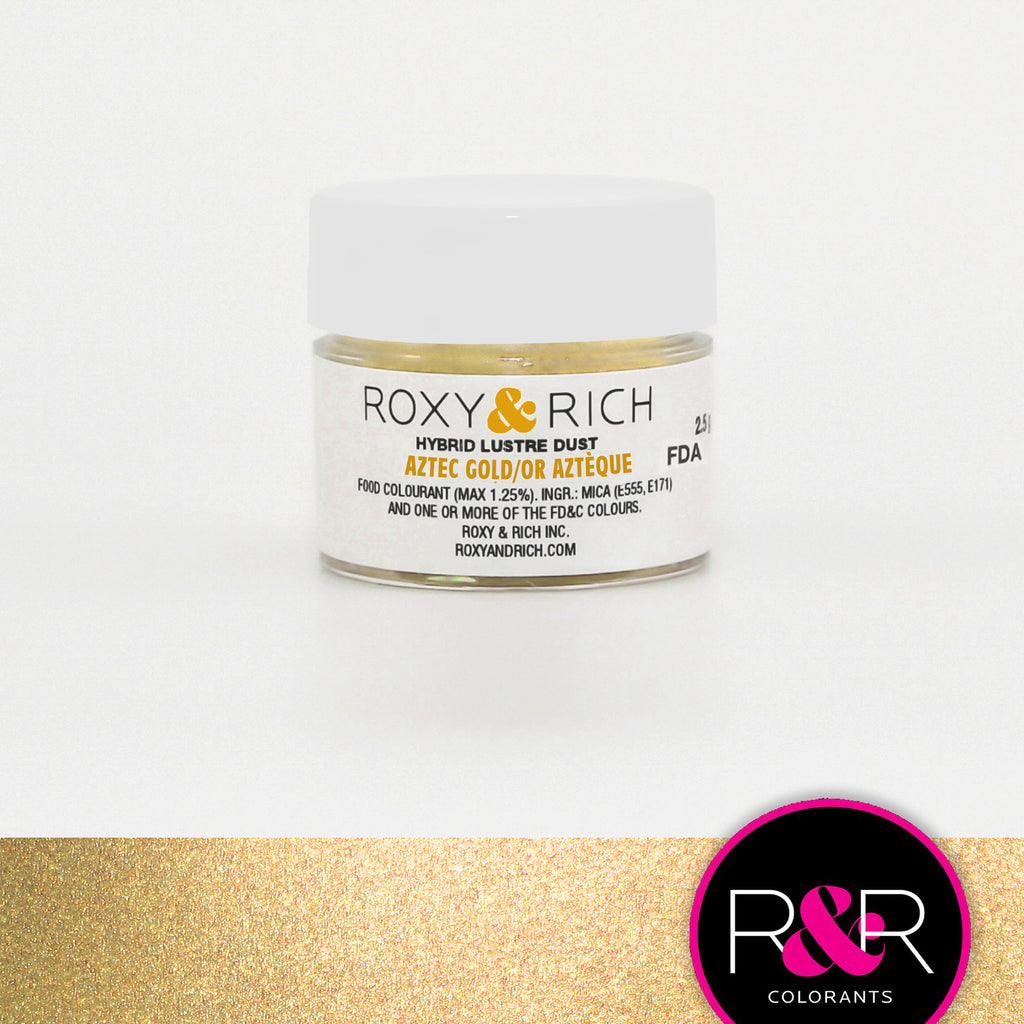Roxy and Rich Hybrid Luster Dust- Aztec Gold 2.5g