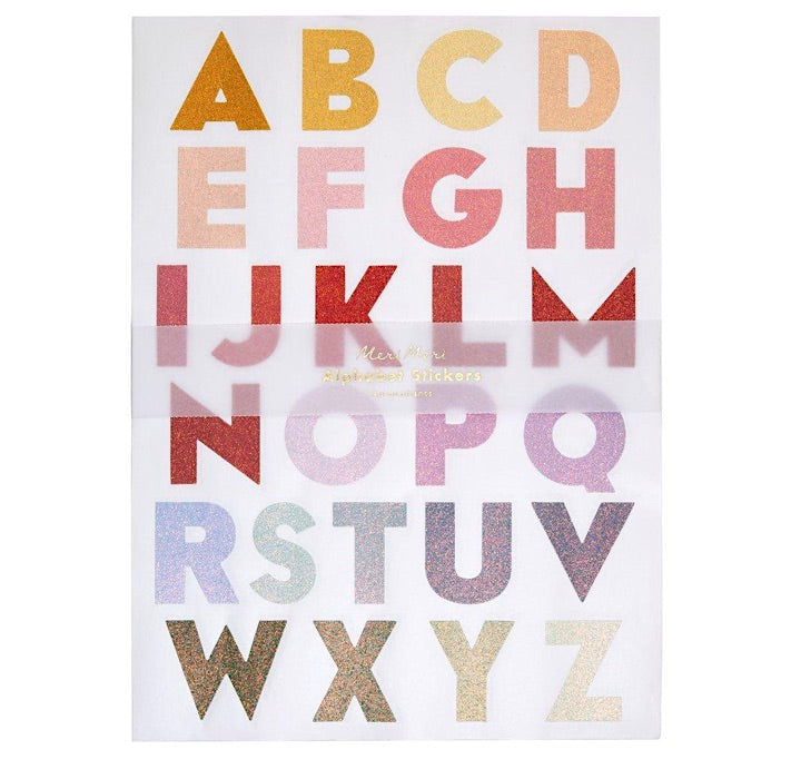 Large Ombre Glitter Alphabet Stickers by Meri Meri