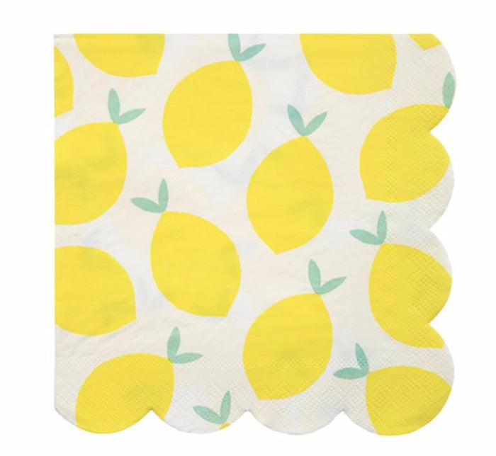 Lemon Paper Party Napkins by Meri Meri