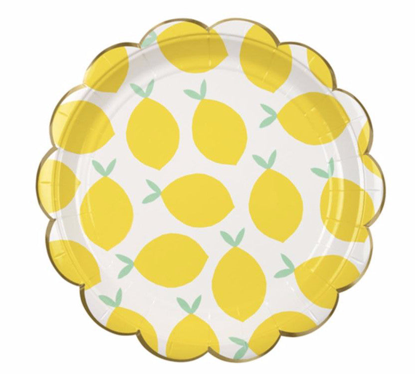 Lemon Paper Party Plates, Meri Meri