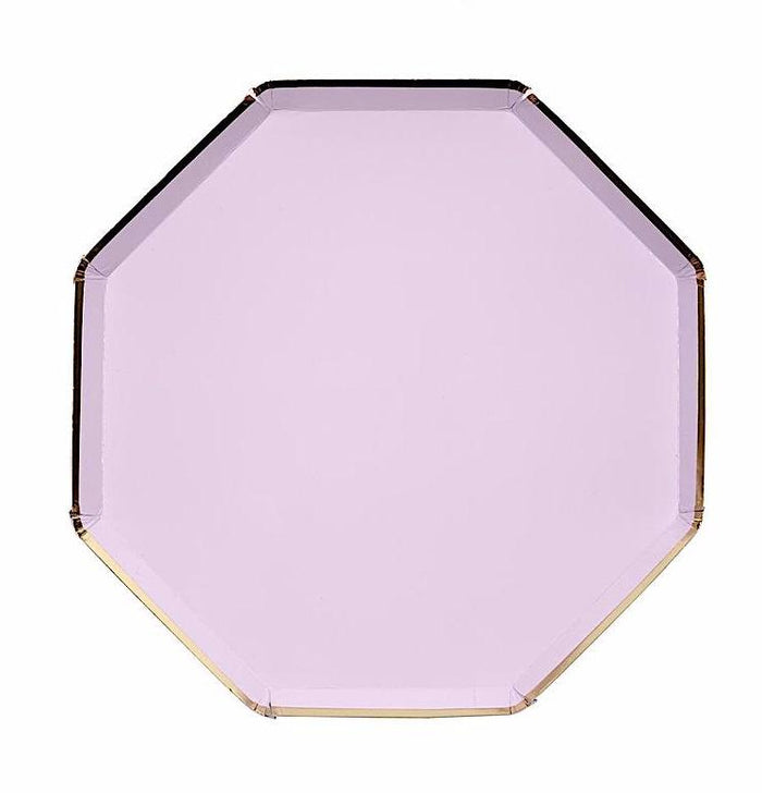 Lilac and Gold Paper Plates by Meri Meri