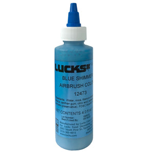 Lucks Airbrush Color- Blue Shimmer 4 oz.