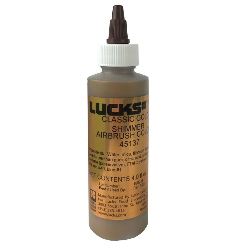 Lucks Airbrush Color- Classic Gold Shimmer 4 oz.