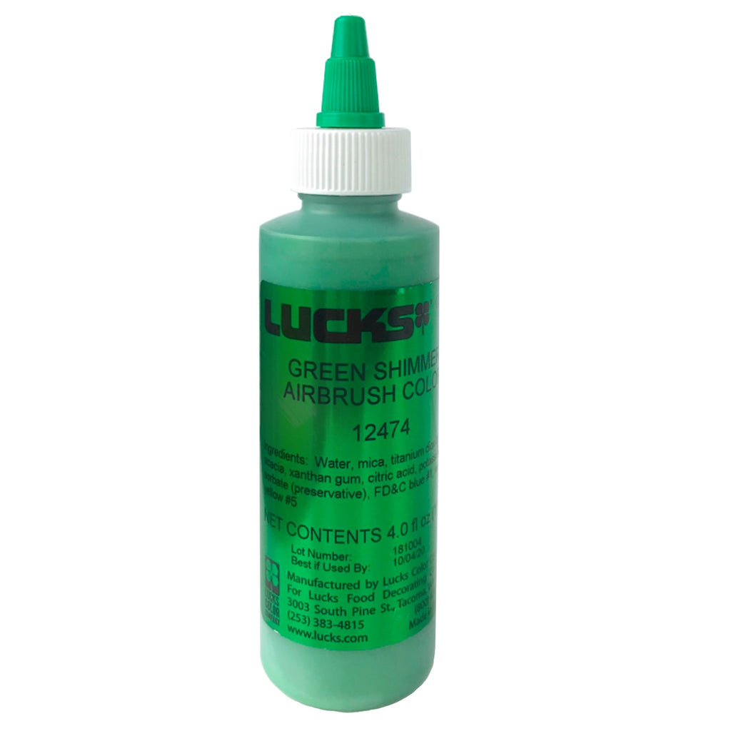 Lucks Airbrush Color- Green Shimmer 4 oz.