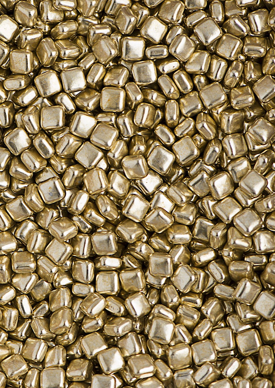 Sweetapolita Luxe Sprinkles- Metallic Gold Dragee Squares