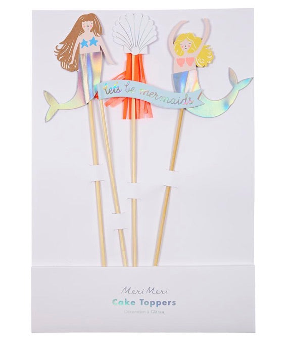 Let's Be Mermaids Cake Topper Set by Meri Meri