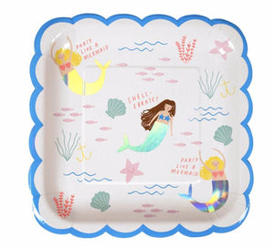 Let's Be Mermaids Paper Party Plates, Meri Meri