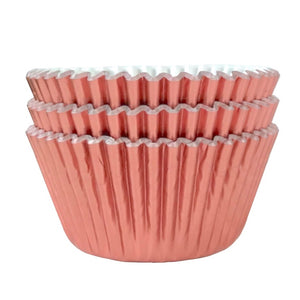 Metallic Rose Gold Foil Cupcake Liners 50 ct.