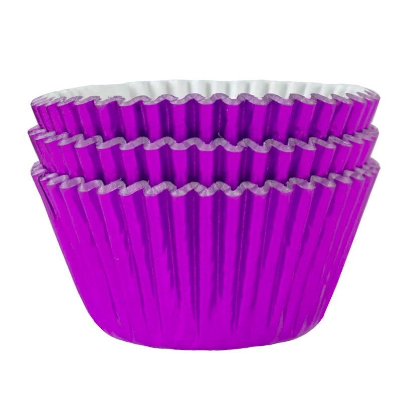 Metallic Purple Foil Cupcake Liners 50 ct.
