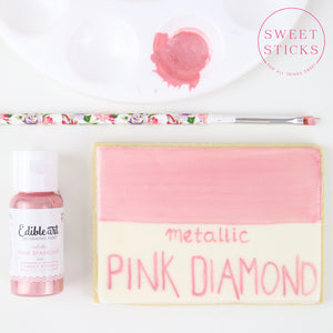 Pink Diamond 15ml- Metallic Edible Art Paint by Sweet Sticks